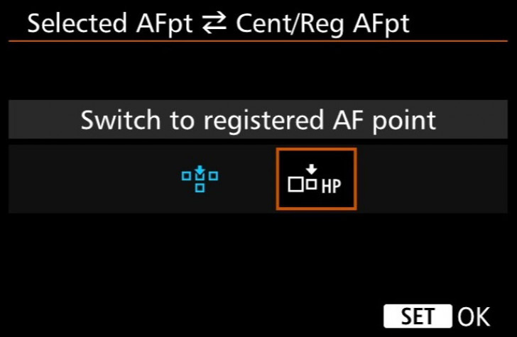 Registered AF points