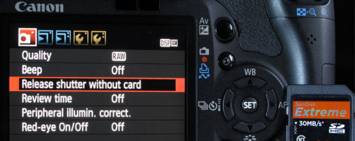 First steps in setting up your DSLR