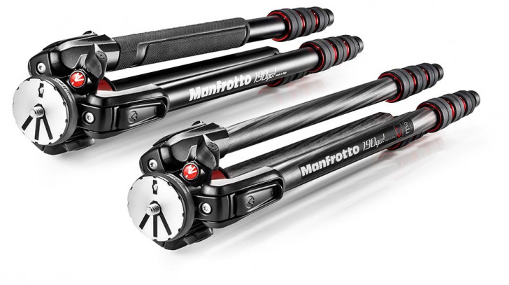 Manfrotto adds carbon fibre model to 190Go! tripod series