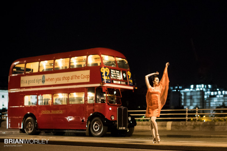 EOS-1D X II Night time shoot with vintage buses and actors
