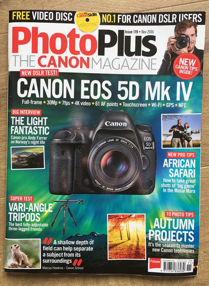 PhotoPlus Issue 119, my 20th EOS SOS column