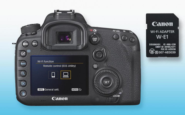 WiFi Adapter W-1E adds wireless to EOS 7D Mark II & EOS 5DS / 5DS R